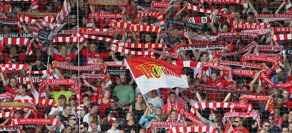 FC Union Berlin supporters inside the stadium