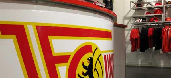 Inerior of FC Union Berlin club shop