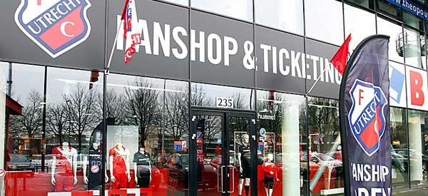 Exterior of FC Utrecht club shop
