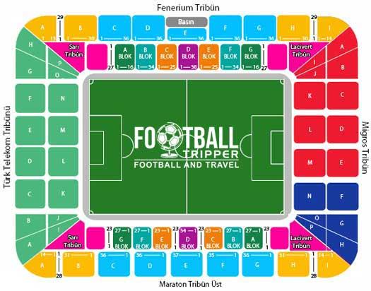 Şükrü Saracoğlu Stadium seating plan