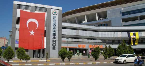 The exterior of Fenerbahce's stadium