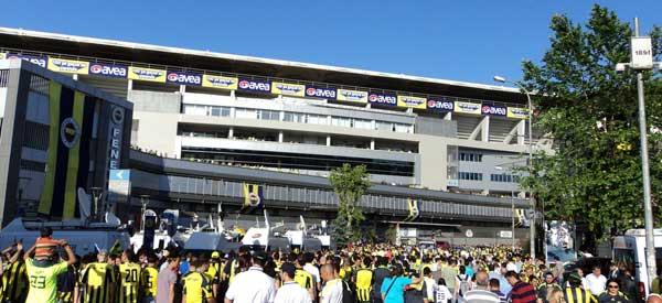 Fenerbahce fans at stadium