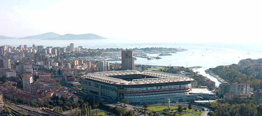 Aerial view of Sukru Saracoglu Stadium