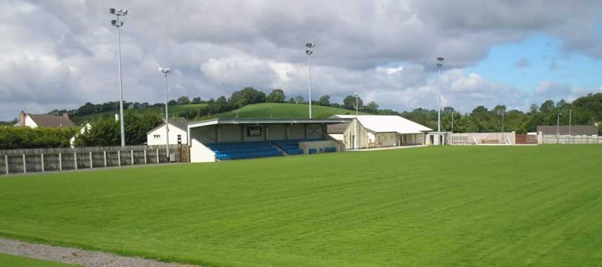 Main stand of Ferney Park stadium