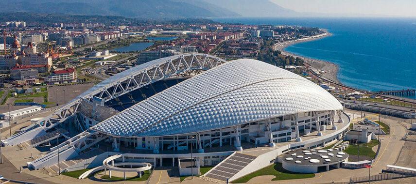 Aerial view of Fisht Olympic Stadium