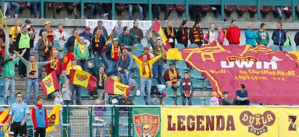 Fk Dukla Prague supporters inside the stadium