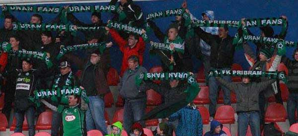 FK Probram supporters inside the stadium