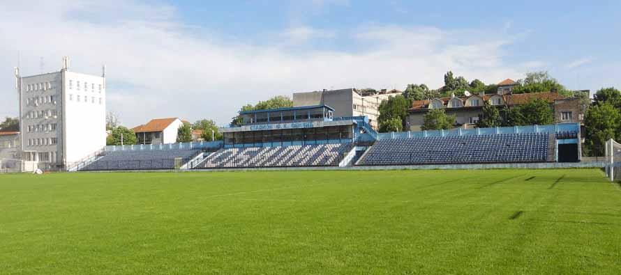 The pitch at King Petar 1 Stadium