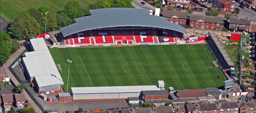 Highbury Stadium Main Stand Fleetwood
