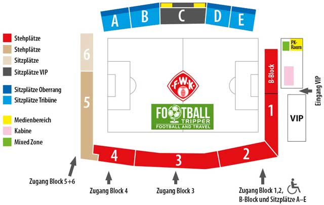 Flyeralarm Arena seating plan