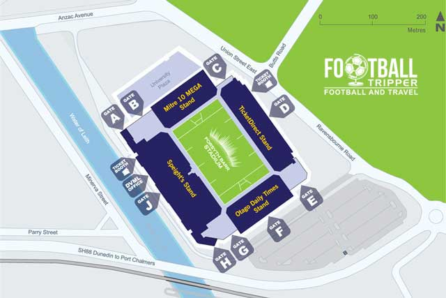 Map of Forsyth Barr Stadium