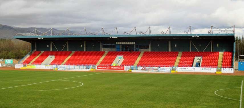 Main stand of Forthbank Stadium