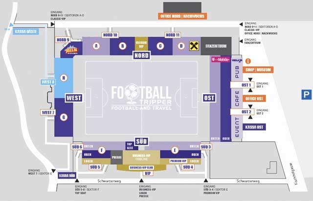 Generali Arena Seating Plan