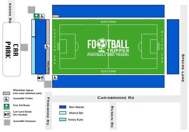 Fratton Park Stadium Portsmouth Seating Plan