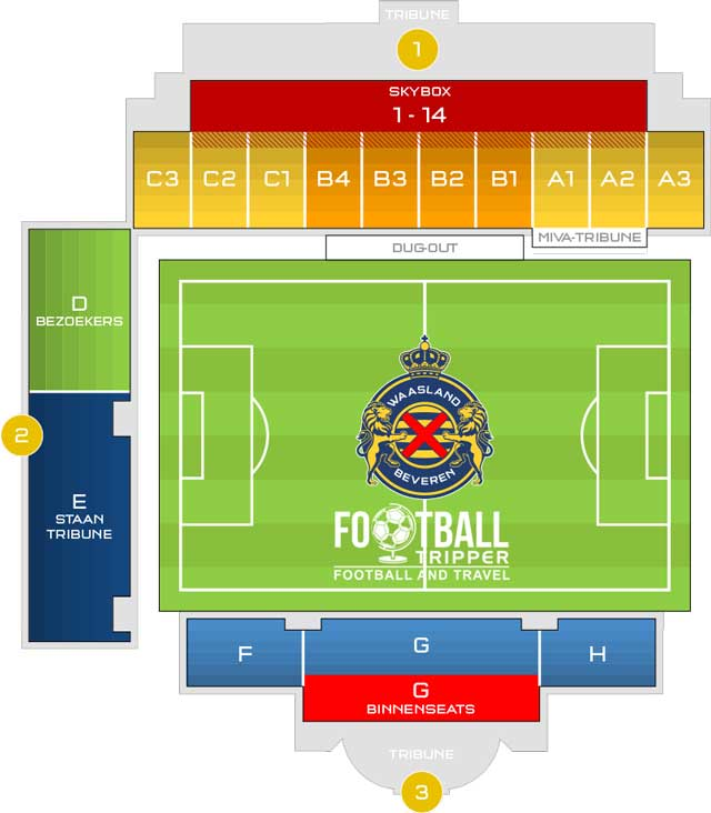 Seating chart for Freethiel Stadion