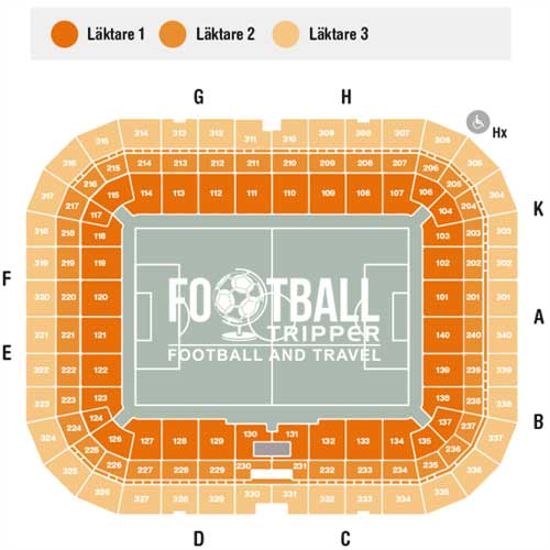 Seating Plan Friends Arena Sweden