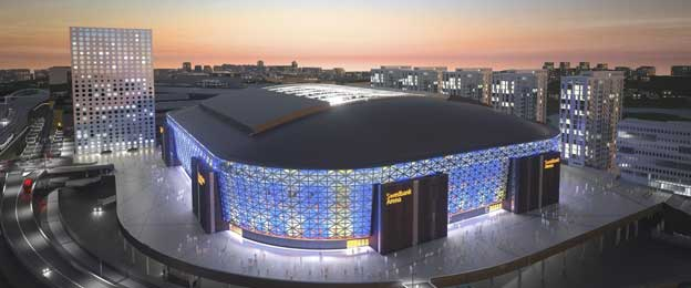 Exterior of Friends Arena