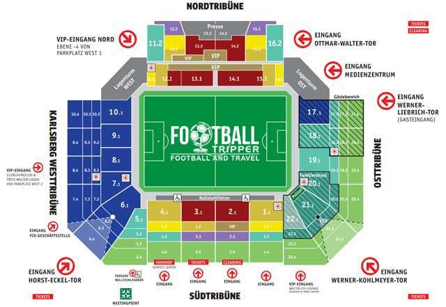 Fritz Walter Stadion Seating Plan