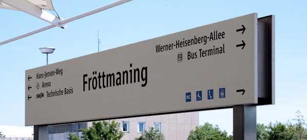 Frottmaning Metro Sign