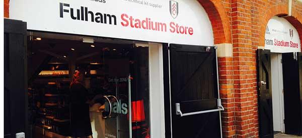 Exterior of Fulham club shop