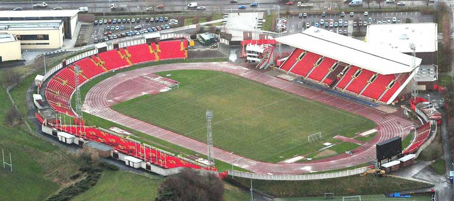 Gateshead Stadium from above