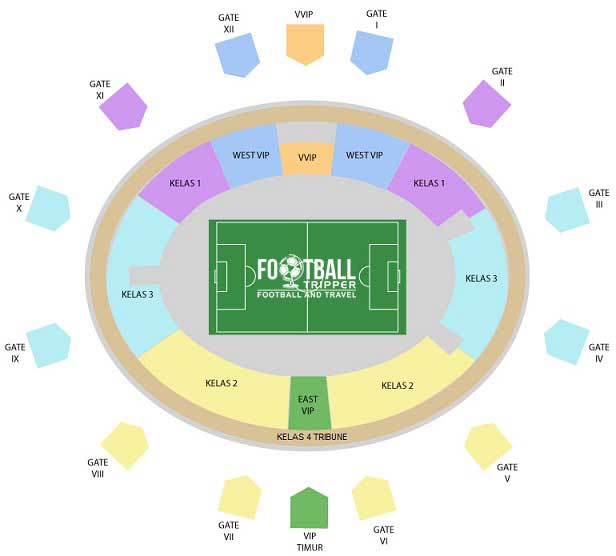 Indonesia National Stadium Seating Plan