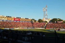 Inside a packed General Pablo Rojas Stadium