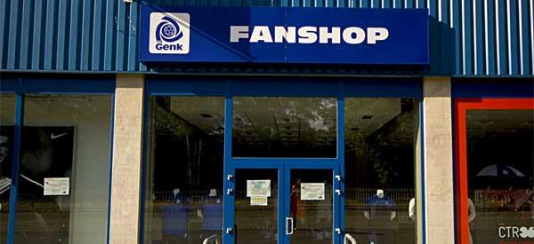 Exterior of Genk fan shop
