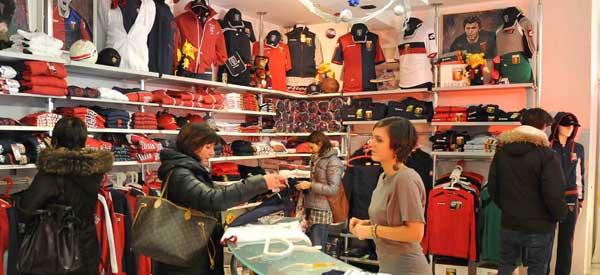 Inside Genoa's club shop