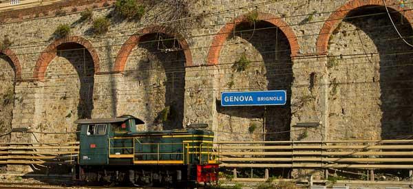 Inside Brignole Stazione.
