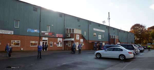 The back of the main stand taken from the club's car park..