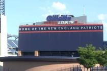 Main sign of Gillette Stadium