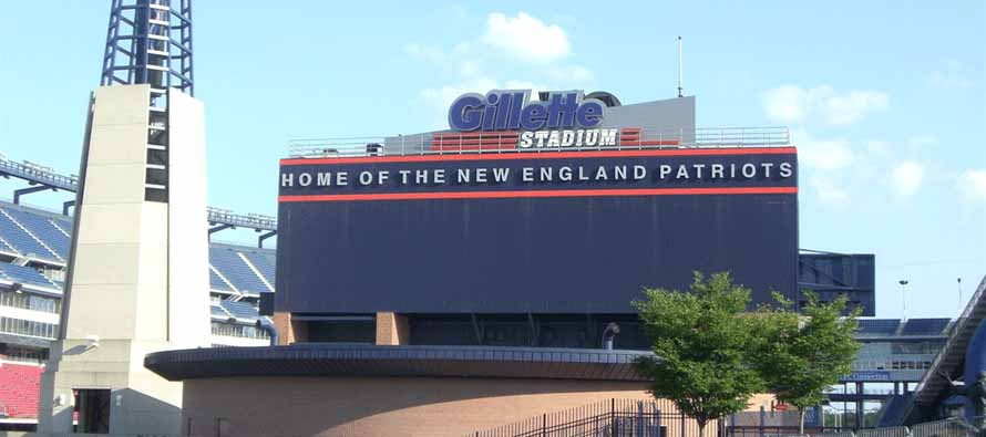 Main sign of Gillette Stadium