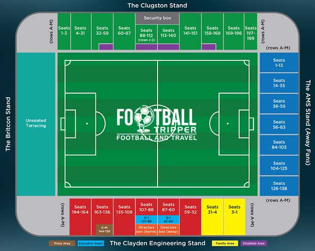 Glanford Park Scunthorpe United Seating Plan