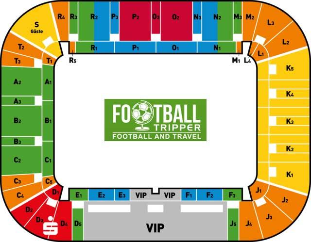 Glücksgas Stadion seating map