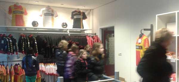 Inside go ahead eagles club shop