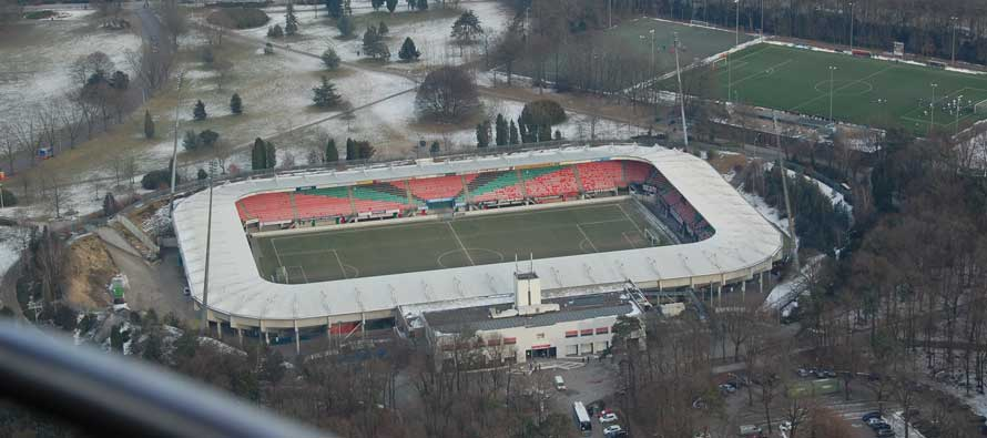 Aerial view of Gofferstadion
