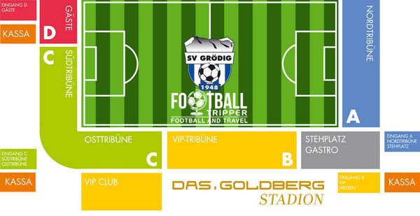 Seating chart of Goldberg Stadion