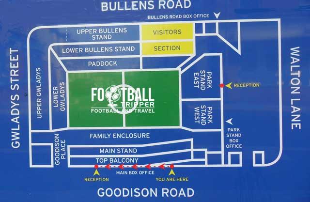 Goodison Park Seating Plan