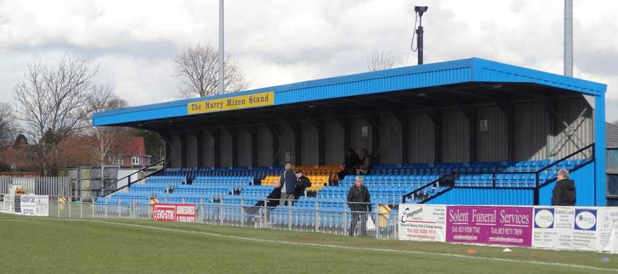 Main stand of Gosport borough's ground