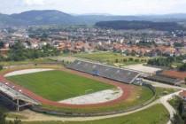 Aerial view of Berane's Municipal Stadium