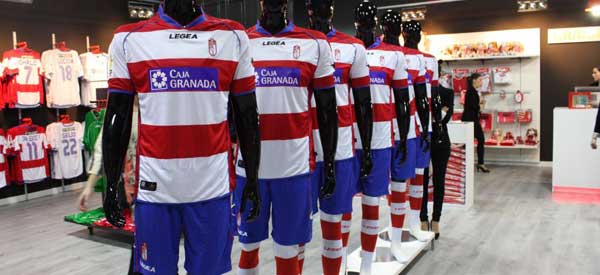 Interior of Granada CF club shop