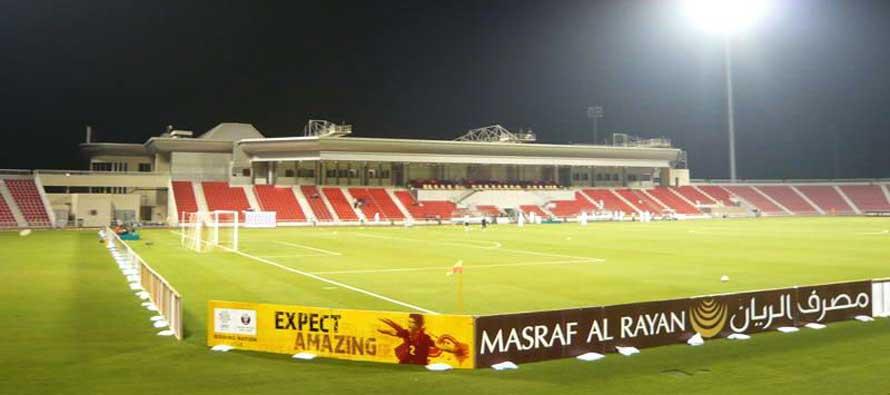 Grand Hamad Stadium at night