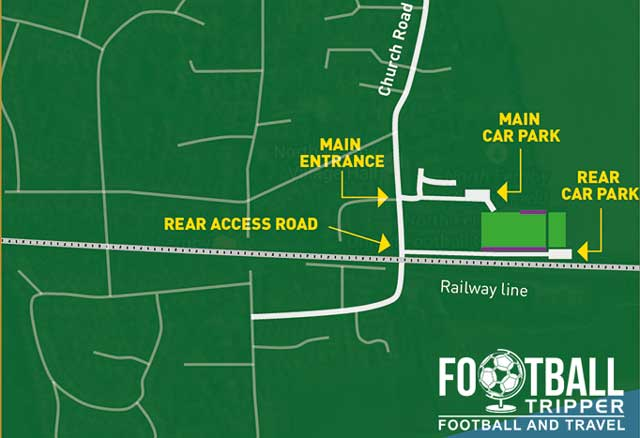 Access map of Grange Lane Stadium