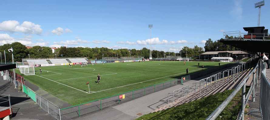 Corner view of Grimsta Ip stadium