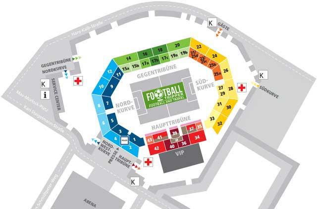 Grundig Stadion seating Plan