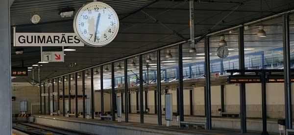 Main platform of Guimaraes train station