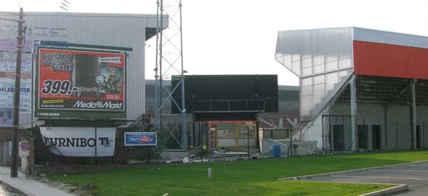 Exterior of Guldensporen stadium