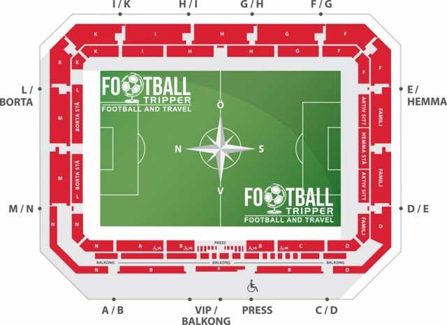 Guldfågeln Arena seating chart