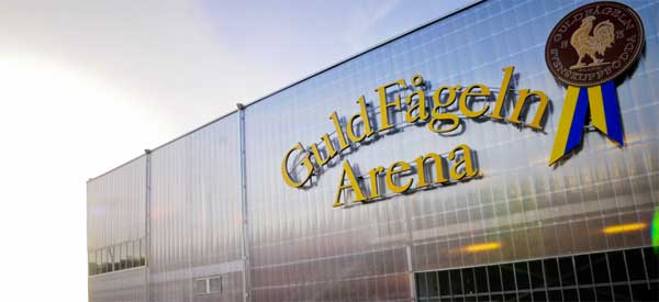 Sign for Guldfageln Stadium